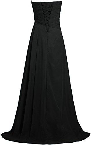 Robe Longue Robes De Demoiselle D'honneur Robe De Bal Mariage Noir Fourmis Femmes