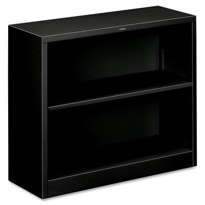 - HON HS30ABC.P HONS30ABCP Metal Bookcase with Two Shelves, 34-1/2w x 12-5/8d x 29h, Black (S30ABCP), 2-Shelf,