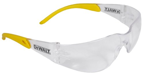 (Dewalt DPG54-1D Protector Clear High Performance Lightweight Protective Safety Glasses with Wraparound Frame)