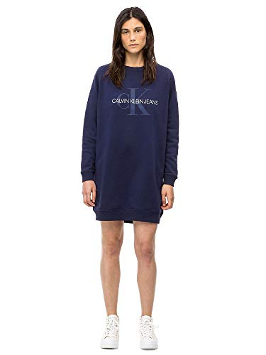 Dress J20j209536 Bleu Femmes Calvin Klein wXqE00