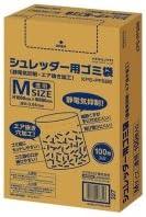 コクヨ シュレッダー用ゴミ袋 静電気抑制 エア抜き加工 透明 Mサイズ 1パック(100枚)