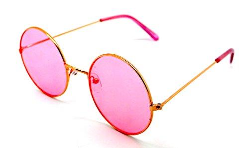 Lagofree Hippie UV400 Calidad Redondas Sunglasses Alta Gafas Rosa Retro de Sol wHqxEUX
