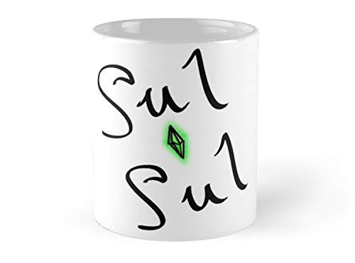 Hued Mia sul sul - the sims say hello [with plumbob] Mug - 11oz Mug - Features wraparound prints - Dishwasher safe - Made from Ceramic - Best gift for family friends