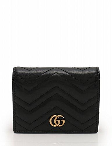 ca548bd91c37 Amazon.co.jp: (グッチ) GUCCI GGマーモント 二つ折り財布 カードケース レザー 黒 466492 中古: 服&ファッション小物