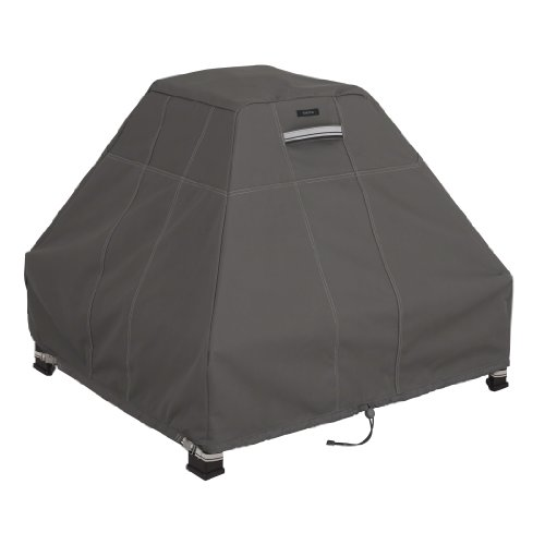 Classic Accessories Ravenna Stand-Up Fire Pit Cover – Premium Outdoor Cover with Durable and Water Resistant Fabric (55-183-015101-EC)