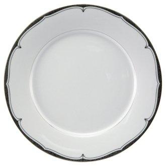 Nikko Scalloped Platinum Soup Plate, 9