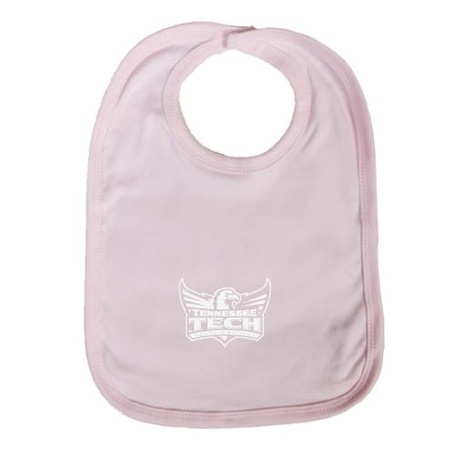 Tennessee Tech Light Pink Baby Bib 'Official Logo' by CollegeFanGear