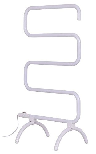 K&A Company Towel Drying Electric Warmer Rack Heated Wall Mounted Bar Bathroom Freestanding Stainless And Steel 100 (Stainless Steel Heated Towel)