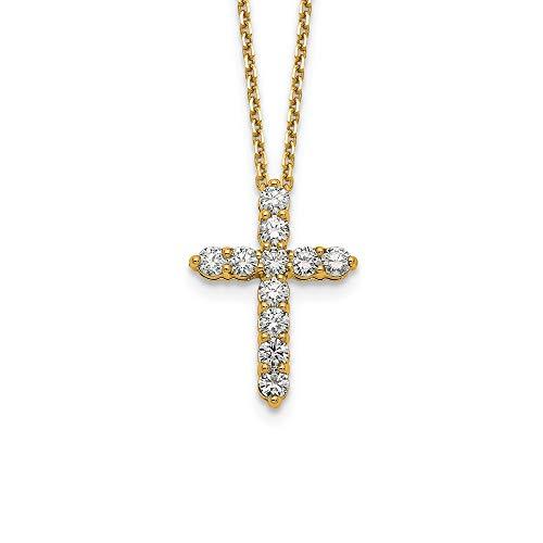 Jewelry Necklaces Diamond 14k Cross Pendant with - 14k Chain Cufflinks