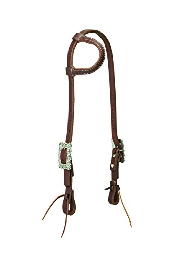 Weaver Leather Working Tack Sliding Ear Headstall, Scalloped ()