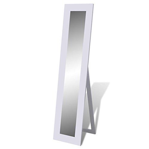 vidaXL Boden Stehend Spiegel Standspiegel Ganzkörperansicht Weiß