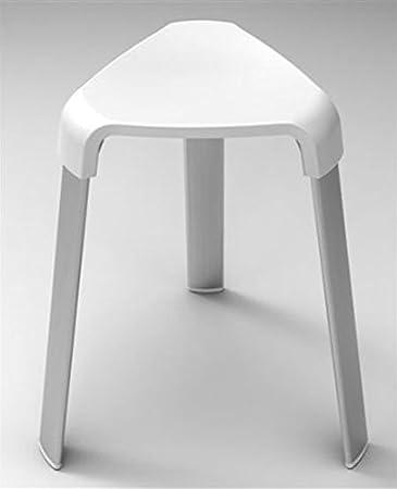 Badhocker Duschhocker Duschstuhl Sitzhocker Duschsitz Hocker  Badezimmerhocker (weiss)