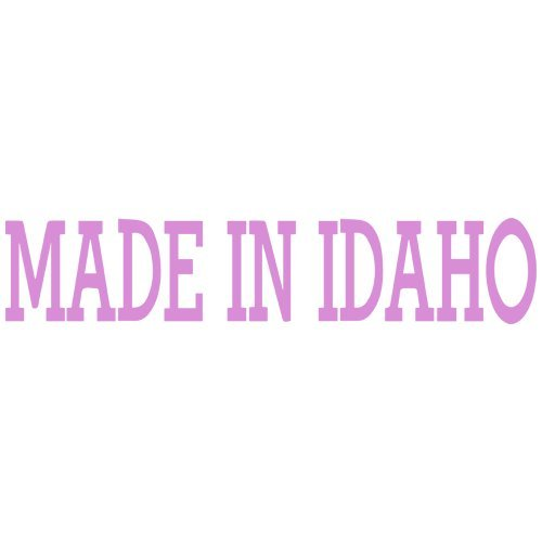 (Set of 3 - Made in Idaho Decal Sticker Color: Pink- Peel and Stick Vinyl Sticker )