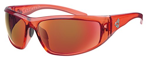 Ryders Eyewear DUNE Cycling Sunglasses for Mountain Biking with Brown Polarized Lenses, Red - Sunglasses Dune