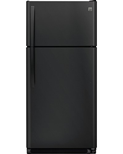Kenmore 60509 18 cu. ft. Top Freezer Refrigerator with Glass Shelves in Black, includes delivery and hookup