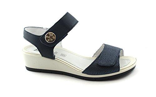 Flessibile Strappi Enval Sandali Morbido Gomma Blu Suola Donna Blu 1281611 In qOzq18