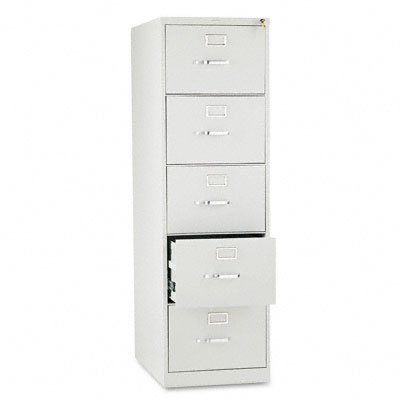 310 Series Five Drawer - HON 5 Drawer Filing Cabinet - 310 Series Full-Suspension Legal File Cabinet, 26-1/2-Inch Drawers, Light Gray (H315C)