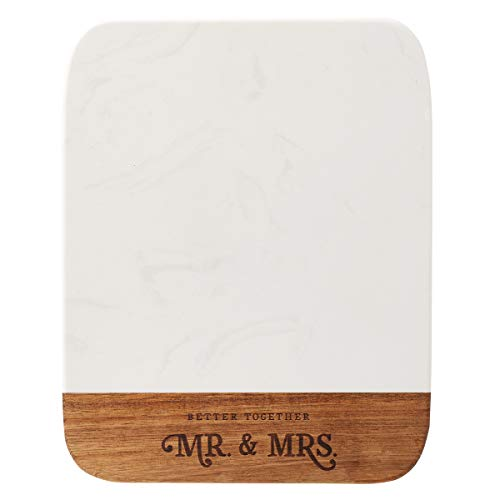 Better Together - Mr. & Mrs. Marble and Acacia Wood Cheese Board, Better Together - Board Collection Cheese