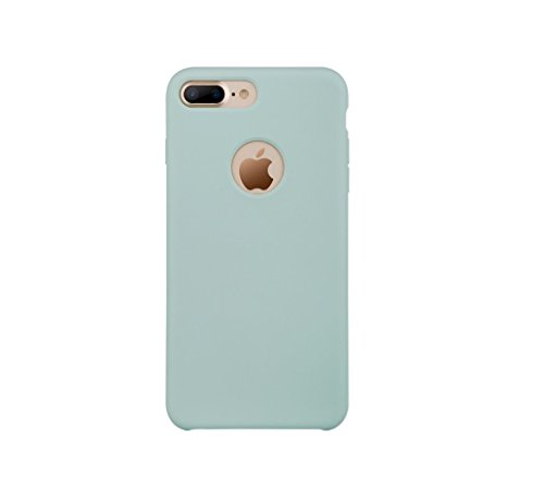 iPhone 7 Case, AmanStino Liquid Silicone Gel Rubber Shockproof Case Cover with Soft Microfiber Cloth Lining Cushion for Apple iPhone 7.