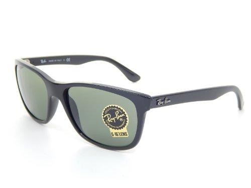 New Ray Ban RB4181 601 Black/Crystal Green 57mm Sunglasses