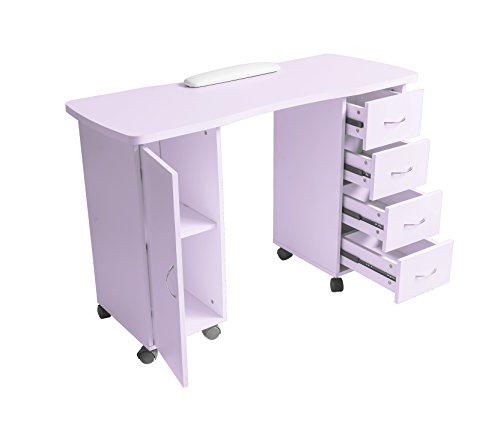 ExacMe Slightly purple Manicure Nail Table Station Desk Spa Beauty Salon Equipment 400/600 (600) by BarberPub (Image #3)