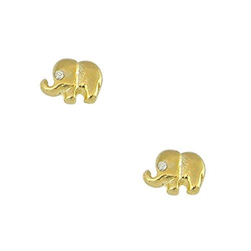 Simple Bijoux - Boucles d'Oreilles Eléphant Plaqué Or