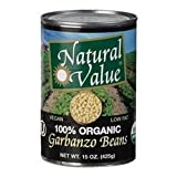 Natural Value Organic Beans Garbanzo 48x 15Oz