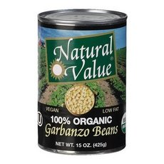 Natural Value Organic Beans Garbanzo 36x 15Oz