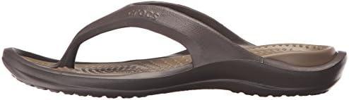 crocs Athens Flip Flop, Espresso/Walnut