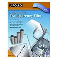 Transparency Film, 8-1/2 x11, 100/BX, Black on Clear, Sold as 1 Box, 100 Each per Box