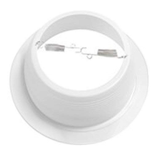 6'' Inch White Baffle Recessed Can Light Trim, Stepped, for BR30/38/40, PAR30/38, LED, Incandescent, CFL, Halogen (3 Pack) by Four-Bros Lighting (Image #1)