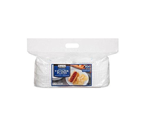 """Price comparison product image Daily Chef Heavy Duty 9"""" Paper Plate (600ct.)"""