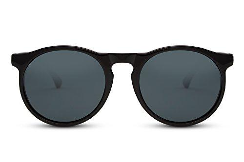 Sunglasses Ca Noir Noir Connaisseur Miroitant Brun Femmes Cheapass 010 Lunettes Rétro Rondes Hommes SZCxwq