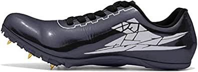 Thestron Track Shoes Spikes Mens Womens Distance Running Sneakers Athletic Sprinting Track and Field Racing Shoes with Spikes Boys Girls Black Size: 3.5
