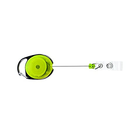 Advantus Identification Badge Reels with Carabiner Attachment, Assorted Neon Colors, Pack of 20 - Identification Badge Attachment
