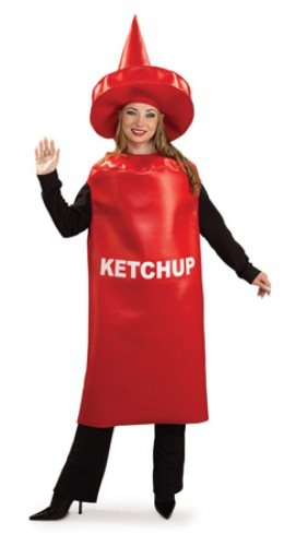 Rubie's Costume Ketchup Bottle, Red, One Size Costume