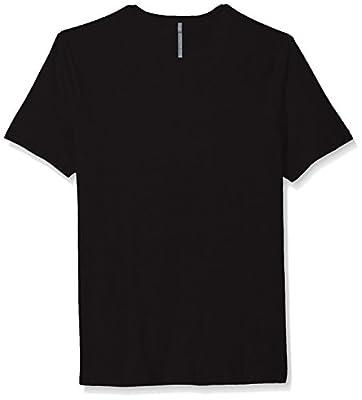 Calvin Klein Jeans Men's Short Sleeve Overlap Ck Jeans Logo V-Neck T-Shirt