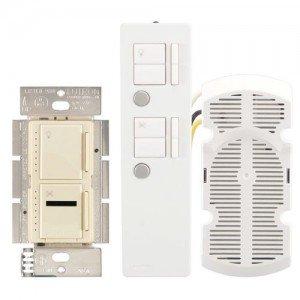 Fan Speed Control Maestro IR Combination 300W Dimmer 1.0A Fan Controller Package - Ivory-2PK by Lutron