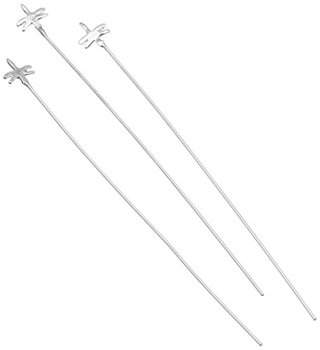 ed Sterling Silver Dragonfly Head Pin - 5pc ()