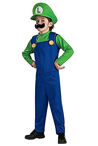 YONCHE Super Costume Kids Cosplay Costume Brothers Halloween Cosplay Costume Green -