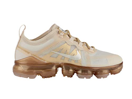 - Nike Women's Air Vapormax 2019 Cream/Sail Light Bone/Metallic Gold Leather Casual Shoes 7.5 M US