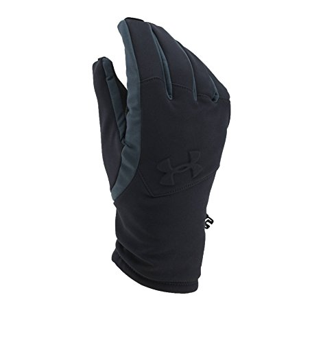 Under Armour Men's ColdGear Infrared Softshell Gloves, Black/Black, Small (Under Armour Touch Screen Gloves)