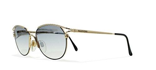Valentino V432 917 Gold Vintage Sunglasses CatEye For - Vintage Valentino Sunglasses