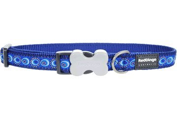 Red Dingo Designer Dog Collar, Medium, Cosmos Dark Blue