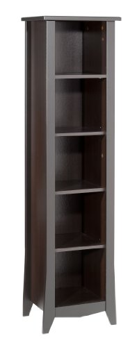 Elegance Bookcase 200217 from Nexera, Espresso - Modular 3 Shelf Tv Stand