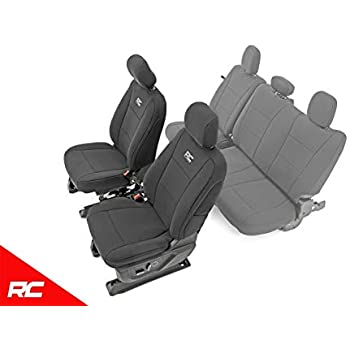 Amazon Com Rough Country Neoprene Seat Covers Front Black