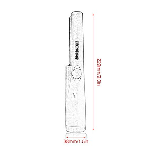 HibiscusElla Handheld GP Pointer Waterproof Automatic Pointer Pinpointer Portable Metal Detector with LED Light 360° Detection: Amazon.es: Jardín