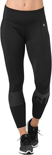 ASICS Colour Block Womens 7/8 Running Tights - Black-M