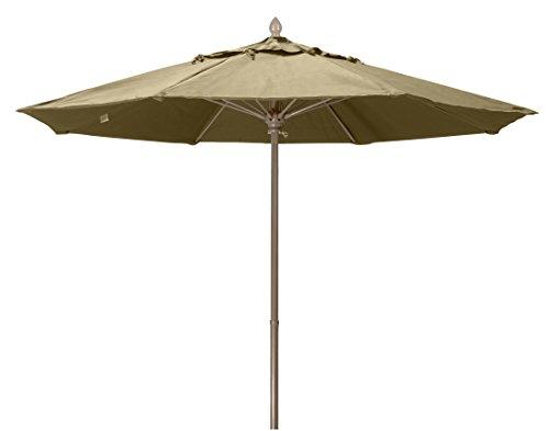 Square Fiberglass Market Umbrella - FiberBuilt Umbrellas 7MPUCB-8600 Market Umbrella, 7.5' Marine Grade Canopy, Antique Beige