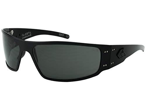 Gatorz Eyewear, Magnum Z Model, Aluminum Frame, ANSI Z87+Safety Rated Sunglasses - Blackout Tactical Style/Smoked Lens -